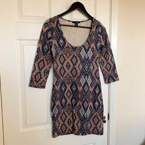Forever 21 Bodycon Dress - 3/4 sleeve, scoop neck